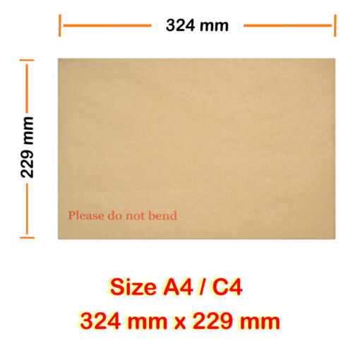 1000 Hard Board Backed Envelope Manilla Please do not bend A4 C4 Wholesale price