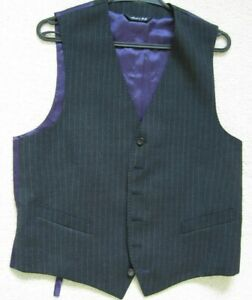 Paul Smith LONDON charcoal stripe Waistcoat size M 40