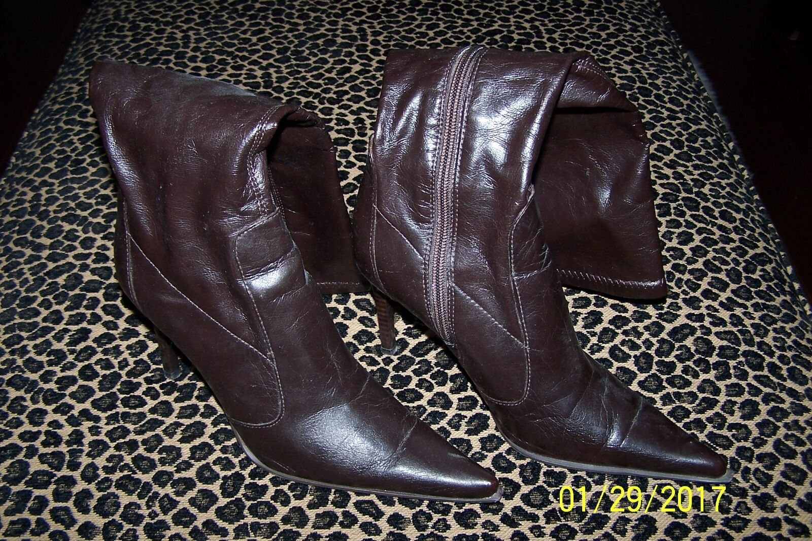 Aldo Brown High Heel Boots Worn Once 37 7