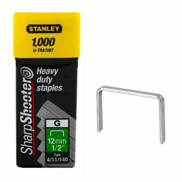 1-TRA708T Stanley 12 mm Staples Pack of 1000 1-Tra708T