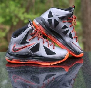 purchase cheap 34e7e 80268 Image is loading Nike-LeBron-X-10-GS-Lava-543564-002-