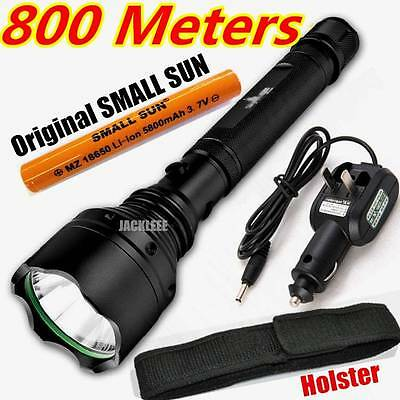SMALL SUN 800 METER 2000 LUMEN TACTICAL CREE Q5 LED FLASHLIGHT + Charger&Battery