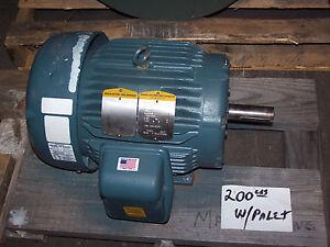 New baldor 7 5 1 9 hp ac electric motor 760 870 rpm for 300 hp ac electric motor