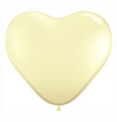 10 cremefarbene Herz- Luftballons creme Ballons Hochzeit EU- Ware