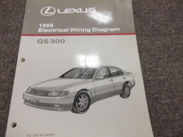 1995 Lexus Gs 300 Gs300 Electrical Wiring Diagram Service