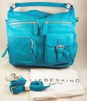$280 Liebeskind Berlin Leather Andrea C Vintage Ocean Hobo Shoulder Bag