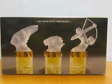 Men Lalique Les Mascottes Miniatures Collection Flacons 3 Pc Set 0.16 fl.oz EDP