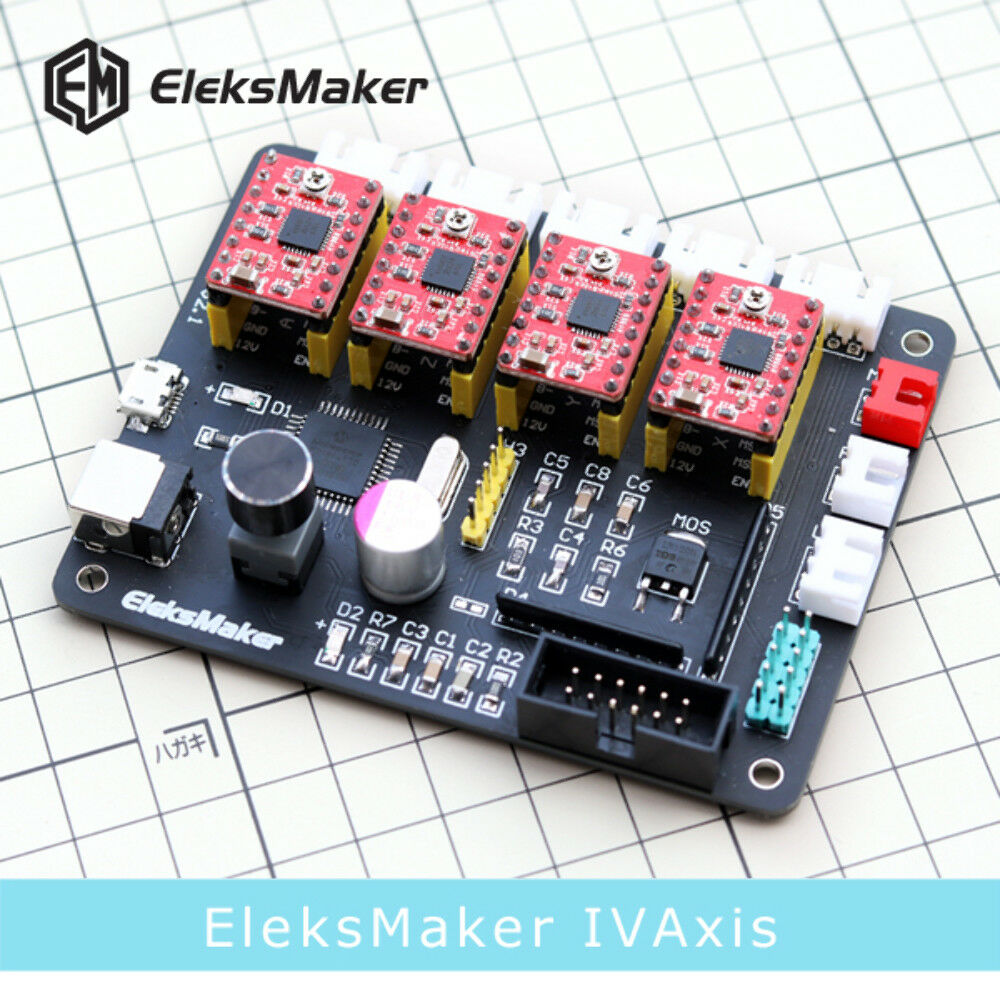 EleksMaker ® IVAxis 4 Axis Stepper Motor Driver Board Controller Laser board For