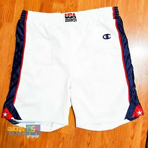 Team-USA-2000-Olympic-Champion-Authentic-Pro-Cut-Game-Basketball-White-Shorts-44