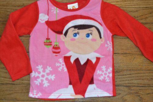 Elf on the Shelf A 2 Piece Toddler Fleece Sleepwear Pajamas Set Flame Resistant
