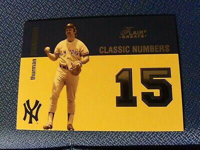 2003 Flair Greats Classic Numbers #10CN Thurman Munson New York Yankees Card