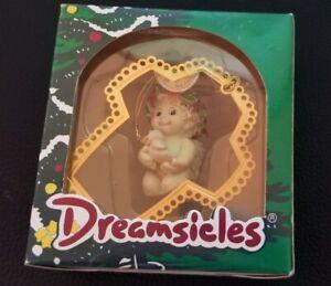 CHRISTMAS-DREAMSICLES-1997-ORNAMENT-10197-GOLDEN-CROSS-NIB-VINTAGE