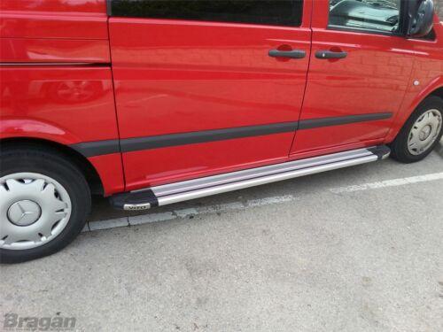 Para adaptarse a 2014 Mercedes Vito Viano elwb lado de aluminio pulido que ejecutan las placas