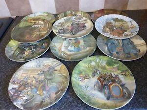 WEDGEWOOD-WIND-IN-THE-WILLOWS-SET-OF-11-SCENIC-PLATES-8-034-DIAMETER-EXCELLENT