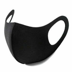 Black Face Mask Breathable Washable 1 Layer Cloth Fabric Mouth Cover Us Stock Ebay