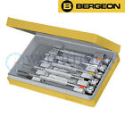 Bergeon 2868 Set of 5 Watchmaker's Screwdrivers w/ Spare Blades. Swiss Made