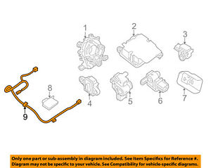 Details about NISSAN OEM 17-18 Altima Air Bag Airbag-Wiring Harness on