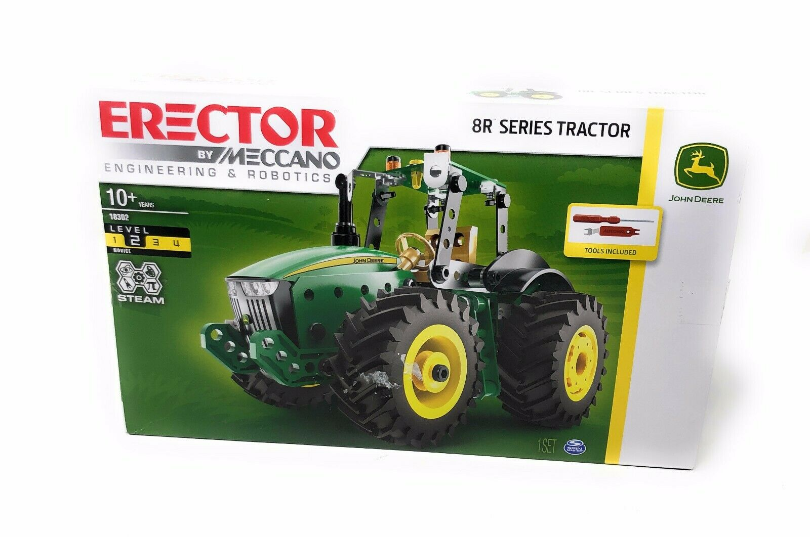MECCANO ERECTOR Vehicle Building Set 9RT TRACTOR JOHN DEERE Spinmaster NIB