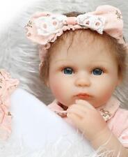 17'' Handmade Soft Baby Dolls Vinyl Silicone Realistic Reborn Newborn Girl Gift