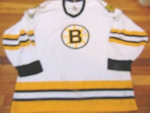 new styles e8b86 9d180 Details about VINTAGE 80'S CCM MASKA NHL BOSTON BRUINS WHITE SIGNED ADAM  OATES JERSEY SIZE XL