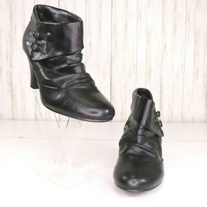 Madden-Girl-Black-Ankle-Boots-Booties-Size-8-Womens-Buckle-Sambbaa-Cosplay