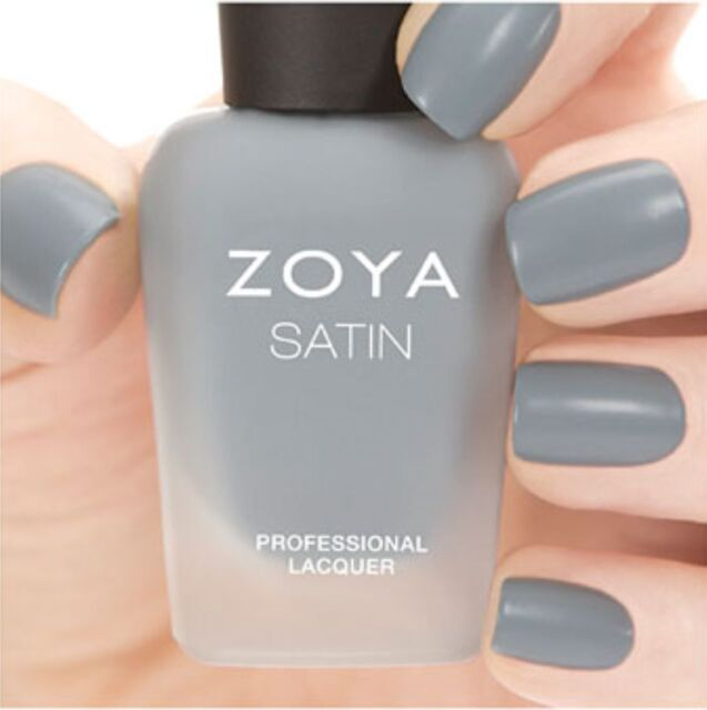 Matte Nail Polish Online: Zoya Zp778 Tove Naturel Satins Collection Slate Grey Matte