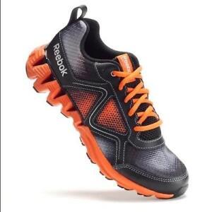 a566b24cbc Details about Reebok Kids Infant Zigkick Wild Running Shoes US 1.5 EU 32  Black Orange FAST J40