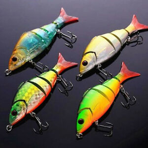 Multi-section 5 section Fishing Lure Crank Bait Swimbait Bass Shad Dace 3D L6R5