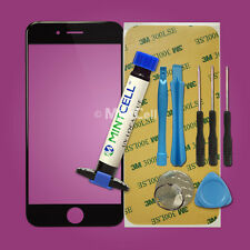 """Black LCD Front Screen Glass Lens Replacement for 4.7"""" iPhone 6  Repair w/ LOCA"""