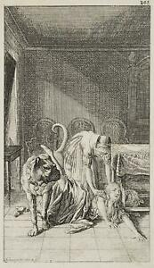 Chodowiecki (1726-1801). caduta dopo il cani cavalcata; pressione grafico 2
