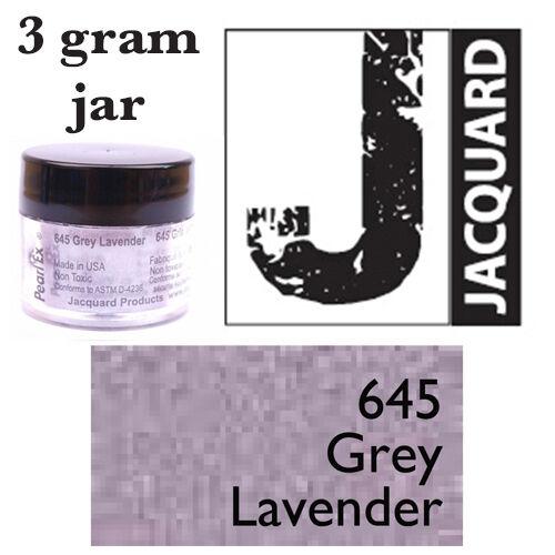 Pearl Ex Mica Powdered Pigments GREY LAVENDER 645 3g bottles