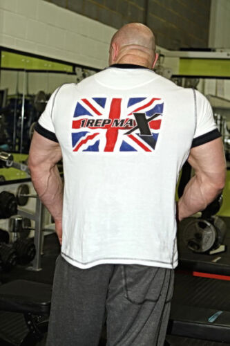 Gym T-Shirt Bodybuilding Training Gym Wear Union Jack by 1 Rep Max