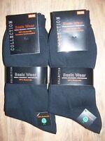 10 Paar AR Herren Socken schwarz glatt ohne Naht 100% Baumwolle neu 39 42, 43-46
