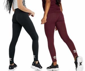 Details about adidas Originals Womens adicolor Trefoil Mini Logo Fashion Sports Tight Leggings