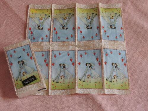 LOVE forever packung Taschentücher heiraten hochzeit brautpaar servietten tech