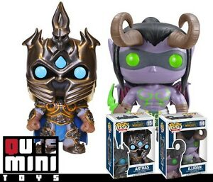 Funko Pop Game World Of Warcraft Illidan Arthas Set Of