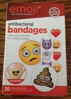 Nip Emoji Adhesive Bandages 20-count Antibacterial Assorted Strips Band Aids