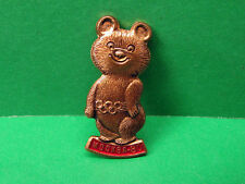 Olympic Games Moscow 1980, Games Talisman, Olympic Bear Pin Badge (Bronze)