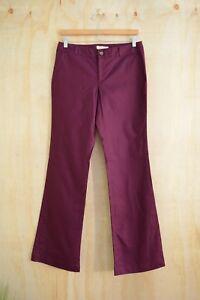 Banana-Republic-Burgundy-purple-MARTIN-fit-cotton-chino-pants-size-6