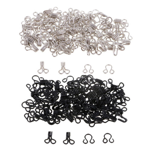 150 Sets Sewing Hooks and Eyes Closure Bra Costume Fasteners Button DIY Crafts