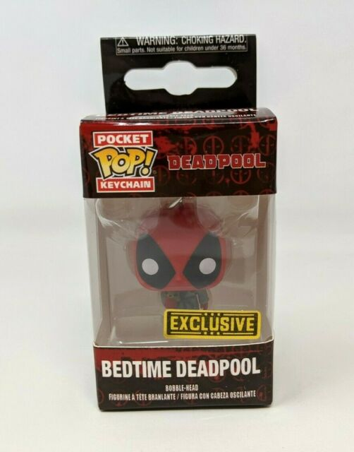 New Funko Pocket Pop Keychain Marvel Bedtime Deadpool Exclusive Figure FP20