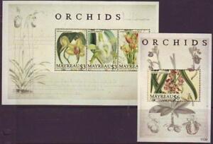 MAYREAU-ST-VINCENT-2011-ORCHIDS-S-Let-3-M-SHEET-Part-2-MINT-NEVERHINGED