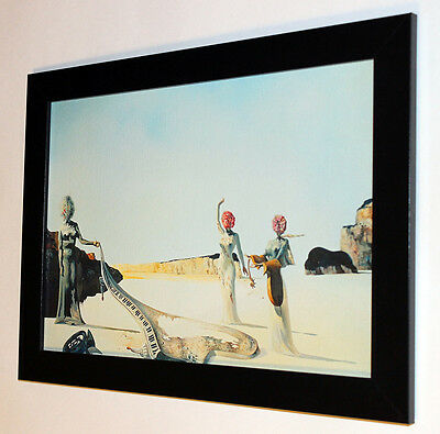 "Salvador Dali ""Three woman"" canvas print, framed, giclee 6.8X8.8&10X13,6"
