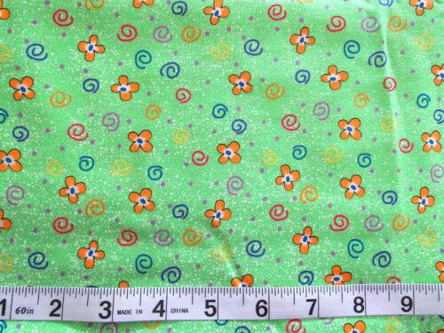 """1 1//8 YD /""""posibilidades/"""" Avlyn creaciones verde con Splatter//flor//Remolino"""