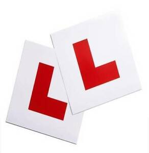2-x-Magnetic-L-Plate-Learning-Plates-Car-Plates-Learner-Sign-UK-STOCK