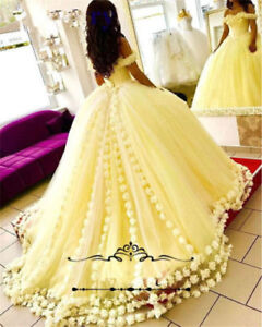 Yellow Ball Gown Quinceanera Dresses Formal
