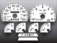 1997-1998 Ford F150 Expedition Dash Cluster White Face Gauges 97-98