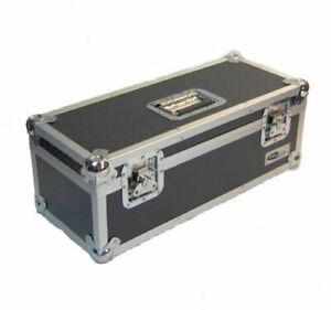 Neo-7-034-Inch-LP-300-Vinyl-Record-Aluminium-Flight-DJ-Storage-Case-Black-Color-UK