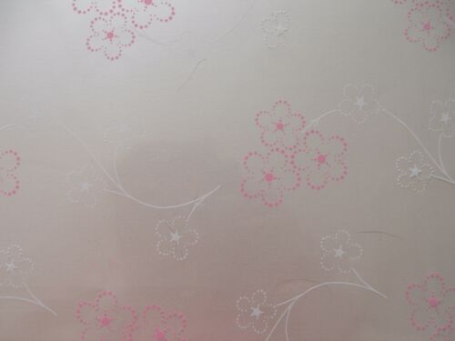 2mts Pink /& White Flower Cellophane for gift wrapping /& 2mts curling ribbon