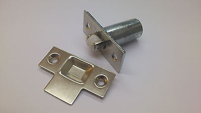Adjustable Roller Ball Door Spring Catch Lock Latch Brass